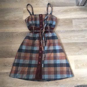 Anthropologie Maple Gingham Dress